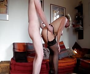 Granny Sit On His Stiff Boner And Go Up And Down