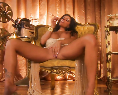 Solo Girl Is Massaging Herself