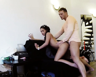 Wonderful Brunette Teen Get Banged So Hard
