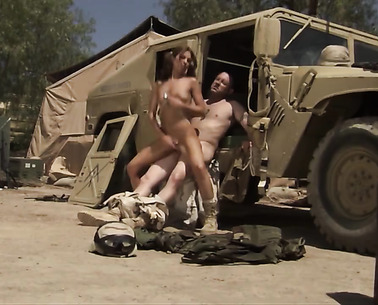Soldier In Uniform Is Fucking A Girl