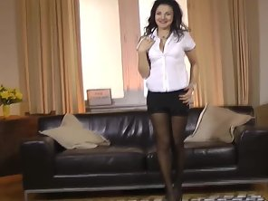 Black Stockings Wore Babe Pounded By Her Hunky Partner