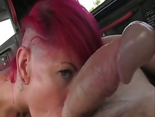 Tattooed Redhead Amateur Banged In Fake Taxi