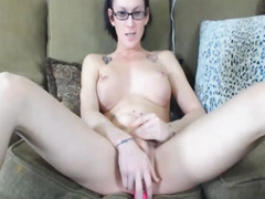 Sexy Hawt Nerd Shelady Masturbate Solo On Web Camera